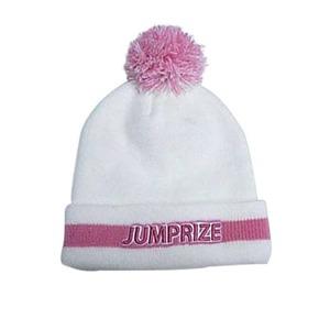 ジャンプライズ(JUMPRIZE) ワッチキャップ ホワイトxピンク