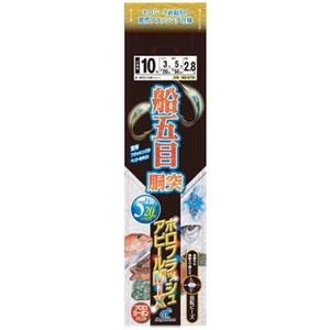 ハヤブサ(Hayabusa) 船極 船五目胴突 ホロフラシュアピールMIX 5本鈎 鈎10号/ハリス3号 SD370