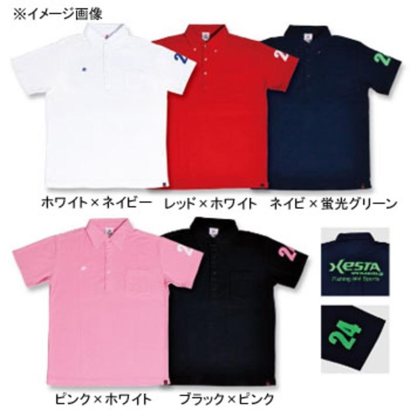 ゼスタ(XeSTA) ドライポロシャツ S レッド×ホワイト