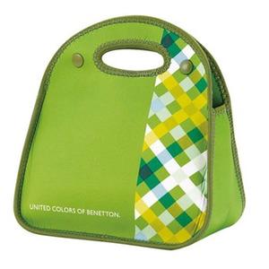 【送料無料】BENETTON(ベネトン) ソフトランチバッグ チェックxグリーン MA-5379