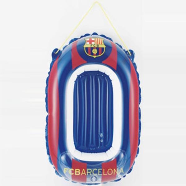 ドウシシャ(DOSHISHA) サッカークラブチームミニボート Futbol Club Barcelona FCB-13004 フロートマット&浮き輪