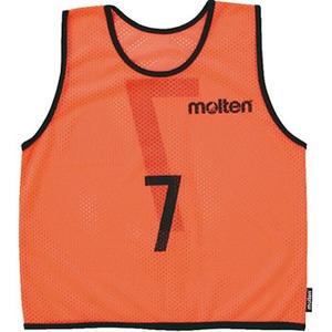 【送料無料】モルテン(molten) MRT-GV102KO ゲームベストジュニアGV10枚セット 蛍光オレンジ