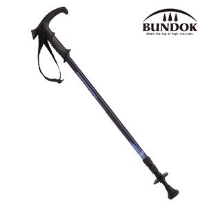 BUNDOK(バンドック) トレッキングポール システム3 BD-450BL スライド式T型グリップステッキ
