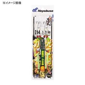 ハヤブサ(Hayabusa) 投げの達人 カレイ 光反射遊動式2本鈎 鈎12号/ハリス3号 上黒 NT357