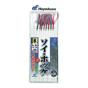 ハヤブサ(Hayabusa) 北の船人 ソイ・ホッケ 赤・青スカート 8本鈎 鈎8号/ハリス8号 青x赤 SD941