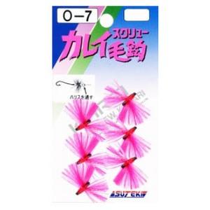 ヤマイ・ステキ針 カレイ毛針 ピンクファイバー O-7
