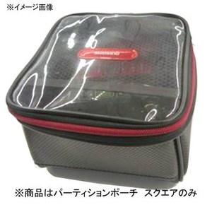 シマノ(SHIMANO) PC-062L パーティションポーチ スクエア PC-062L ブラック