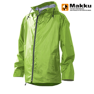 マック(Makku) レイントラックジャケット EL ライトグリーン AS-900