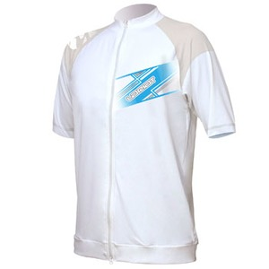 LARIAT(ラリアット) フルZIPラッシュ半袖 Men's M WHITE LFG-33124