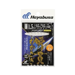 ハヤブサ(Hayabusa) 湖翔ワカサギ 瞬貫わかさぎ 細地袖型 6本鈎 鈎1.5号 C238