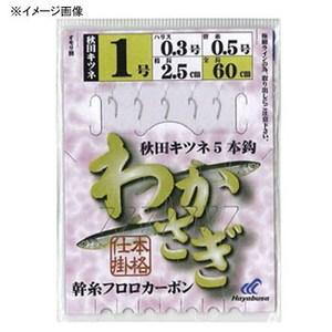 ハヤブサ(Hayabusa) わかさぎ 秋田キツネ 5本鈎 鈎0.8号 CZ002