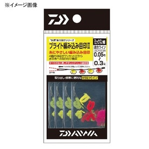 ダイワ(Daiwa) ブライト編み込み目印II 太 ピンク×イエロー