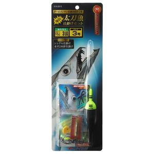 冨士灯器 こだわり太刀魚仕掛けセットタイプ3 LG 3号 緑
