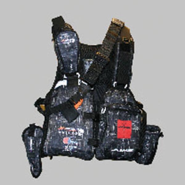MAZUME(マズメ) レッドムーンライフジャケット AIMS MZLJ-192-01 タックル収納付き