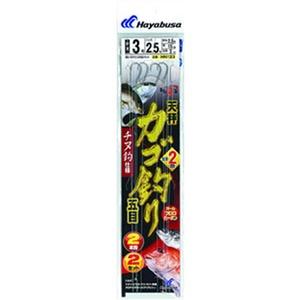 ハヤブサ(Hayabusa) ひとっ飛び カゴ釣り五目 から鈎2m チヌ2本鈎 鈎3/ハリス2.5 白 HN123