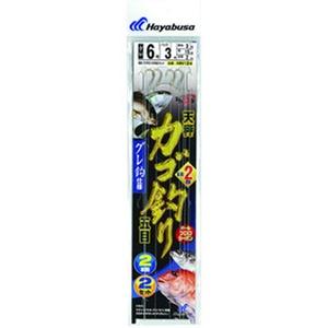 ハヤブサ(Hayabusa) ひとっ飛び カゴ釣り五目 から鈎2m グレ2本鈎 HN124