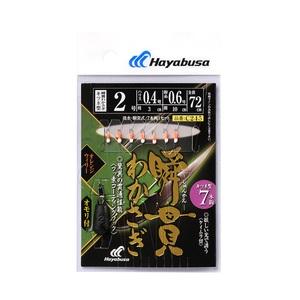 ハヤブサ(Hayabusa) 瞬貫わかさぎ キツネ型 オレンジウィリー7本 オモリ付 C245