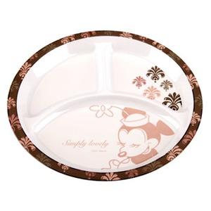 パール金属 ディズニー メラミンランチプレート(ミニーマウス・ノーブル) MA-1329 メラミン&プラスティック製お皿