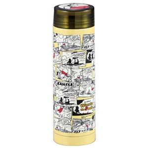 パール金属 ディズニー スリムパーソナルボトル(氷止め付き)(くまのプーさん ・コミックアート) 290ml イエロー MA-2081