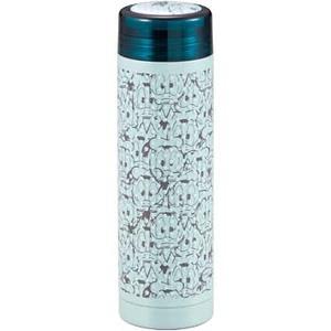 パール金属 ディズニー スリムパーソナルボトル(氷止め付き)(ドナルド・フェイス) 290ml ライトブルー MA-2083