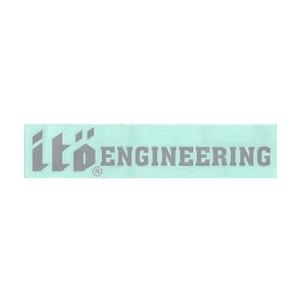 メガバス(Megabass) ito ENGINEERING カッティングステッカー 10cm シルバー