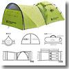 DOD(ディーオーディー) ビッグストレージワンタッチテント 大型前室 3人用キャンプテント
