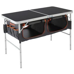 ストレージアウトドアテーブル  ブラック×オレンジ