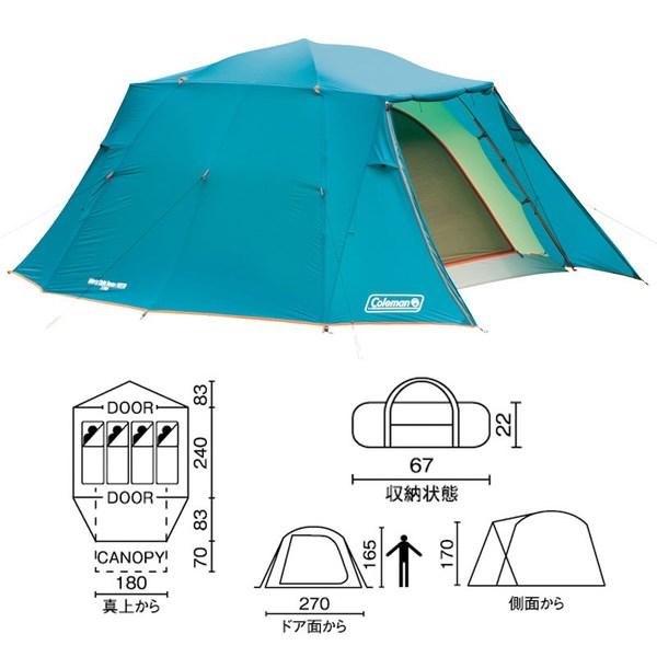 Coleman(コールマン) ウインズライトドーム/W270 2000017191 ファミリードームテント