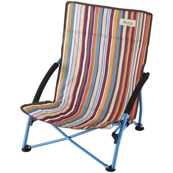 ロゴス(LOGOS) ストライプあぐらチェア・ポケットプラス 73173016 座椅子&コンパクトチェア