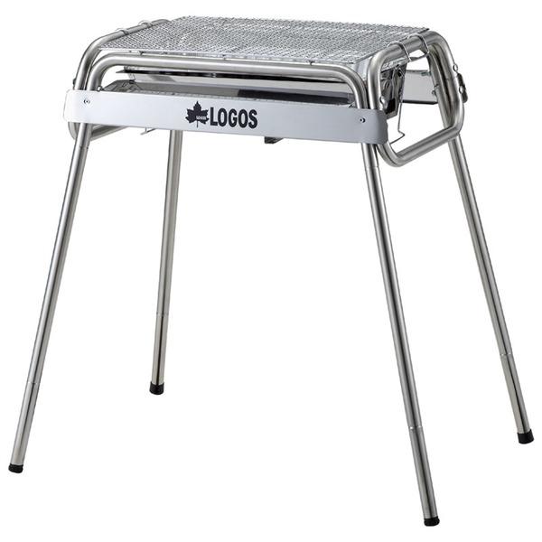 ロゴス(LOGOS) お掃除らくちんステンチューブラルM・Gプラス(鉄板付き) 81060400 BBQコンロ(脚付き)