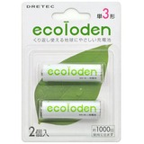 ドリテック(DRETEC) エコロでん 単3充電池 2個パック RB-302GN 電池&ソーラーバッテリー
