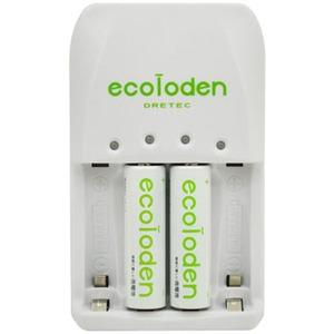 ドリテック(DRETEC) エコロでん 急速充電器 単3充電池2ケ入り RB-513GN