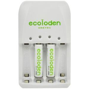 ドリテック(DRETEC) エコロでん 急速充電器 単4充電池2ケ入り RB-514GN