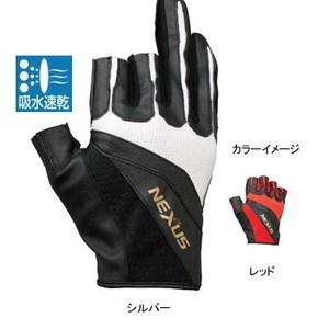 シマノ(SHIMANO) GL-123M ネクサス・ストレッチアップグローブ3(3本指出し) GL-123M レッド LW スリーフィンガーレス(フィッシング)