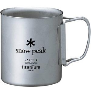 スノーピーク(snow peak) チタンダブルマグ 220 フォールディングハンドル MG-051FHR