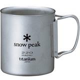 スノーピーク(snow peak) チタンダブルマグ 220 フォールディングハンドル MG-051FHR チタン製マグカップ