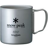 スノーピーク(snow peak) チタンダブルマグ 450 MG-053R チタン製マグカップ