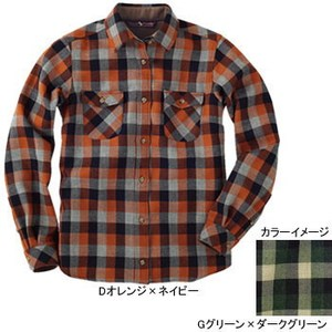 【送料無料】ムッシュ(MUSSHU) レディスウール100%チェックシャツ L Gグリーンxダークグリーン 55305