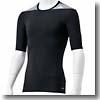 adidas(アディダス) AJP-AJ450 TF BASE ショートスリーブシャツ Men's J/M (D82011)ブラック×ミディアムグレイヘザー