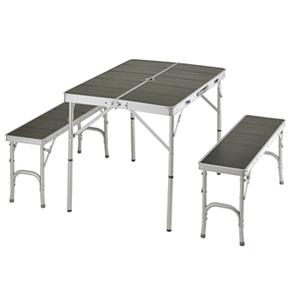 【送料無料】BUNDOK(バンドック) テーブル&ベンチセット ブラック BD-144BK
