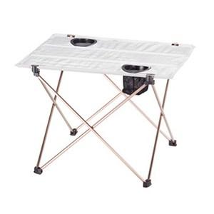 BUNDOK(バンドック) ハンディテーブル ドリンクフォルダー付き グレー BD-215