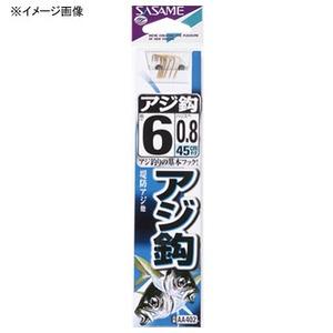 ささめ針(SASAME) アジ鈎 糸付 鈎7/ハリス0.8 金 AA402