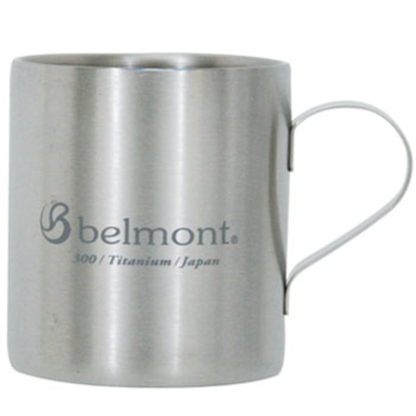 ベルモント(Belmont) チタンダブルマグ300 logo BM-310 チタン製マグカップ