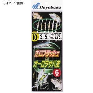 ハヤブサ(Hayabusa) 実戦サビキ オーロラサバ皮&ホロフラッシュ 6本鈎 SS046 仕掛け
