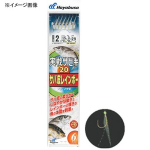 ハヤブサ(Hayabusa) 実戦サビキ20 サバ皮レインボー 6本鈎 SS141 仕掛け