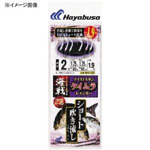ハヤブサ(Hayabusa) 海戦吹き流し ツイストスキンケイムラレインボー 鈎2/ハリス2 白 SN122