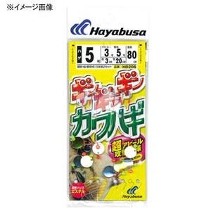 ハヤブサ(Hayabusa) ギンギラギンカワハギ 3本鈎 鈎5/ハリス3 白×金 HD206