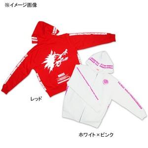 ドレス(DRESS) Web限定パーカー S レッドxホワイト LD-OP-0320