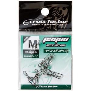 クロスファクター(CROSS FACTOR) サイコエギスナップ M ブラック AGK007