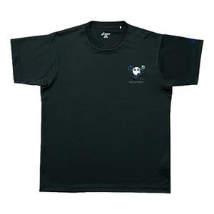 【送料無料】アシックス(asics) XW6598 バボチャンプリントTシャツHS 150 9046(ブラックxJブルー)